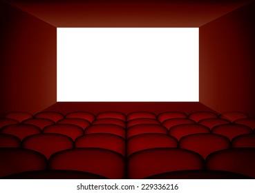 Cinema screen and seats