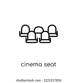 cinema seat icon. Trendy modern flat linear vector cinema seat icon on white background from thin line Entertainment collection, outline vector illustration