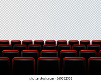 Cinema seats isolated on transparent background. Vector illustration.