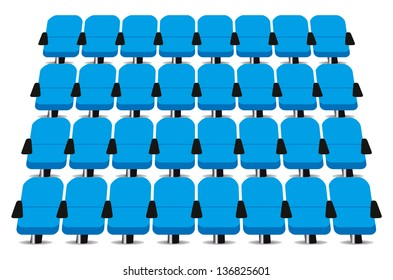 Cinema seats vector on white