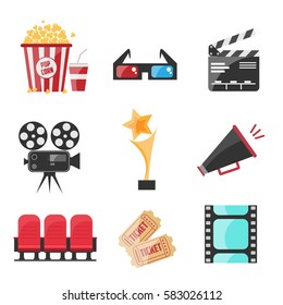 Cinema Set. Vector Illustration