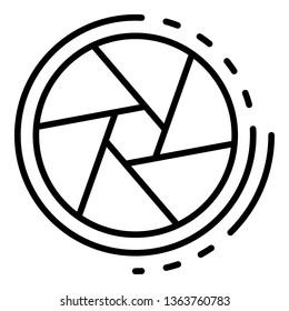 Cinema shutter icon. Outline cinema shutter vector icon for web design isolated on white background