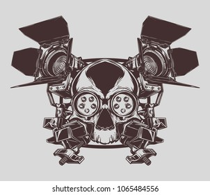 Cinema skull light ARRI