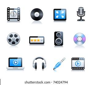 Cinema symbols vector set