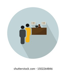 Cinema ticket booth, box office, kiosk cartoon vector Illustration