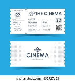 Cinema Ticket Card. Element template for design. Vector illustration.