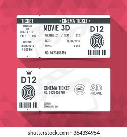Cinema Ticket Card modern element design