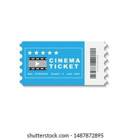 Cinema ticket design. Vector illustration.