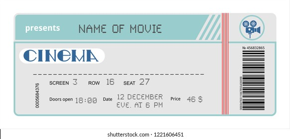 cinema ticket movie coupon admit film entertainment