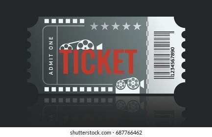 Cinema Ticket Sample Template Design Trendy Stock Vector 691267375 ...