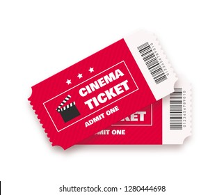 Cinema ticket vector illustration.