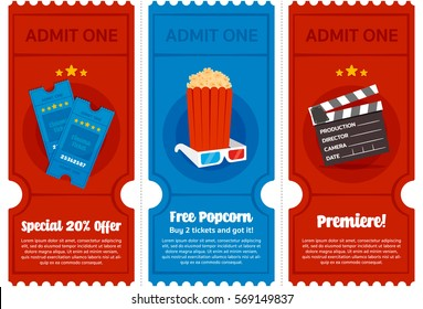 Cinema Tickets Flyer Set