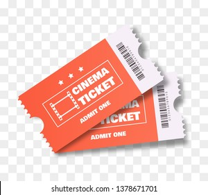 Cinema tickets isolated. Vector illustration.