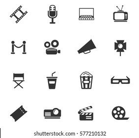 cinema vector icons for user interface design