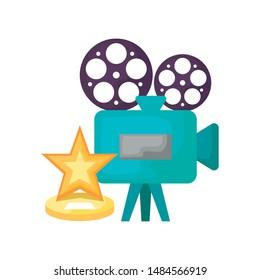 cinema video camera with star
