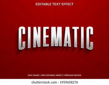cinematic text effect template design with 3d style use for business brand and logo