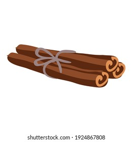 Cinnamon icon. Cartoon of cinnamon vector icon for web design isolated on white background