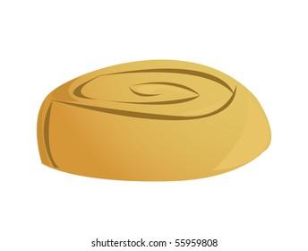 cinnamon roll - vector