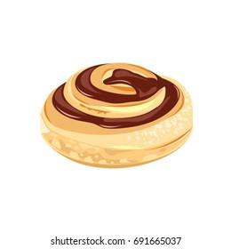 Cinnamon Swirl (Snegl - Danish Pastry) vector drawing