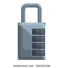 Cipher padlock icon. Cartoon of Cipher padlock vector icon for web design isolated on white background