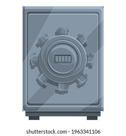 Cipher steel safe icon. Cartoon of Cipher steel safe vector icon for web design isolated on white background