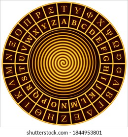 Cipher wheel - Alberti cipher disk