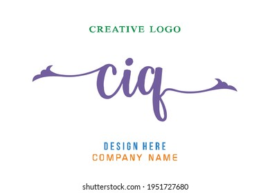 CIQ lettering logo is simple, easy to understand and authoritative