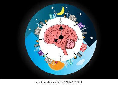 The circadian rhythms are controlled by circadian clocks or biological clock these clocks tell our brain when to sleep, tell our gut when to digest and control our activity in several day.