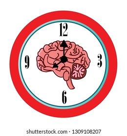 The circadian rhythms vector creative illustration. circadian clocks or biological clock these clocks tell our brain when to sleep, tell our gut when to digest and control our activity in several day.