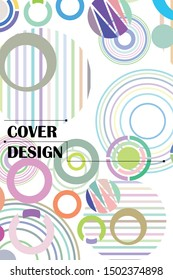 Circle abstract background, business annual report or flyer layout. Vector illustration