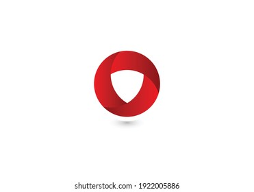Circle abstract infinity loop vector logo design template. Play icon concept. Infinite looped logotype.