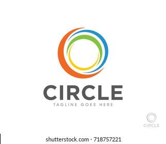 circle abstract logo icon vector template