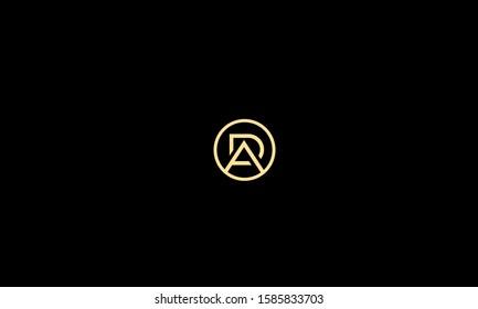 Circle alphabet letters monogram AD,DA,A and D
