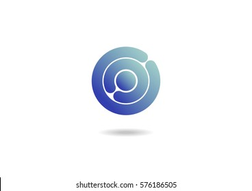 Circle App Buttons Logo Icon Design Letter O Template Gradient