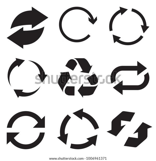 Circle Arrow Icon Refresh Reload Arrow Stock Vector (Royalty