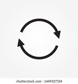 circle arrow icon.  Refresh icon vector