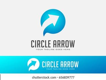 Circle Arrow Logo Template Vector Design