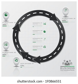 Circle Arrow Road And Street Business Infographic Design Template