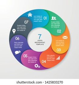 Circle arrows for infographics. Template for cycle diagram, options, graph, web design, presentation and round chart. Business concept with 4 steps. Abstract background. Vector illustration.