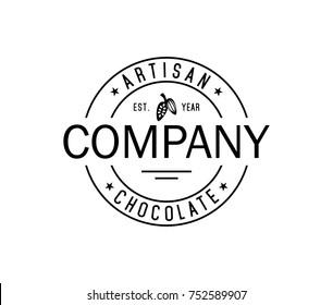 Circle Artisan Chocolate Vintage Logo