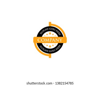 Circle badge logo vector illustration