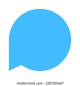 Circle blank speech bubble sign or empty map pin icon isolated on white background. The design graphic element is saved as a vector illustration in the EPS file format.