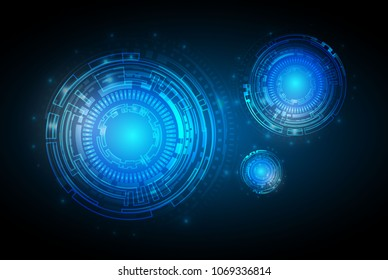 Circle blue abstract technology innovation concept vector background