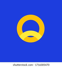 The circle with a bright blue background symbolizes success