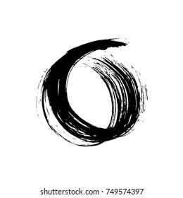 Circle brush stroke