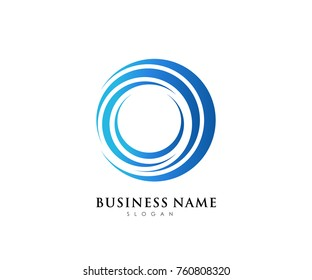 Circle business logo template with blue gradient color