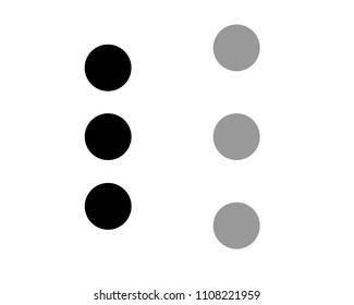 Circle Button Icon Vector