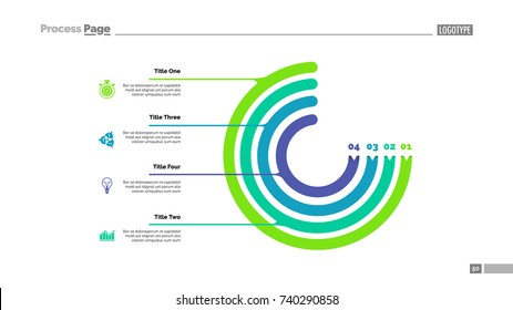 Circle Chart with Four Elements Slide