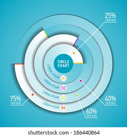 Circle chart infographics template. Vector.