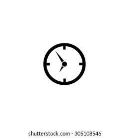 Circle Clock. Black simple vector icon